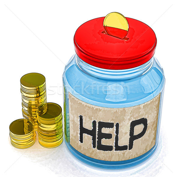 Help Jar Means Finance Aid Or Assistance Stock photo © stuartmiles