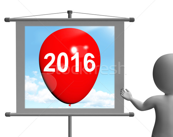 Two Thousand Sixteen on Sign Shows Year 2016 Stock photo © stuartmiles