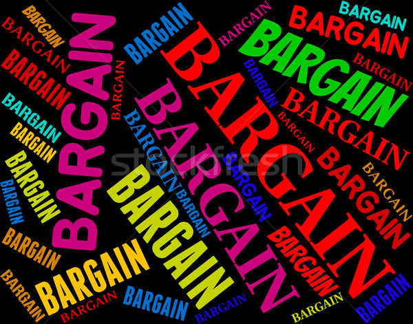 Bargain Word Represents Sale Text And Words Stock photo © stuartmiles