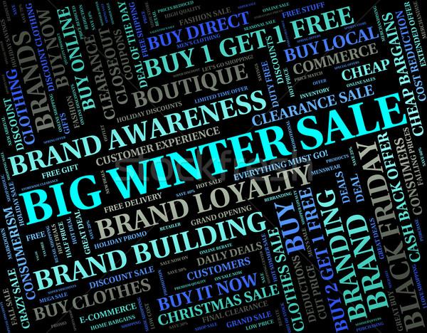 Big Winter Sale Shows Retail Season And Large Stock photo © stuartmiles