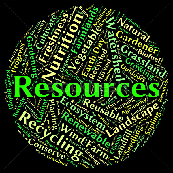 Natural Resources Represents Words Water And Gas Stock photo © stuartmiles