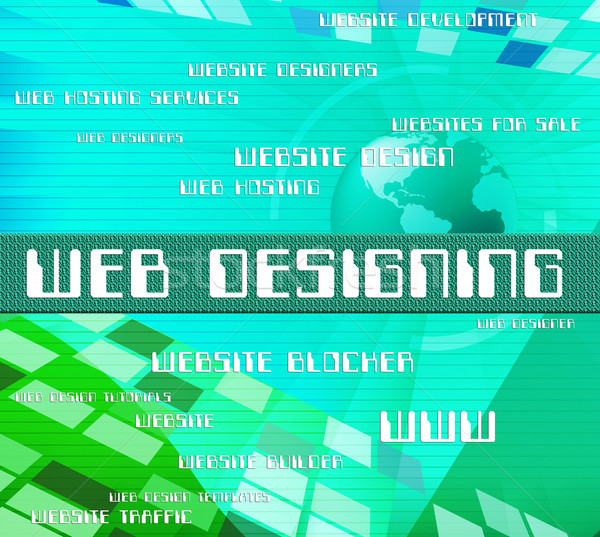 Web Designing Shows Internet Text And Online Stock photo © stuartmiles