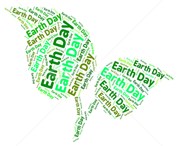 Dia da terra verde ambiente texto naturalismo palavra Foto stock © stuartmiles