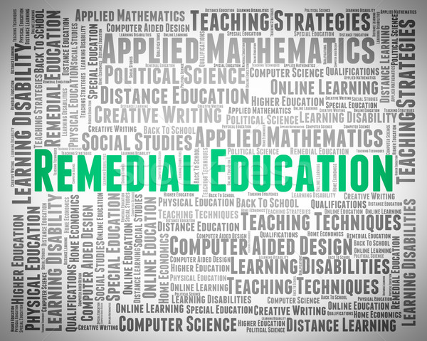 Remedial Education Means Text Remedying And Train Stock photo © stuartmiles