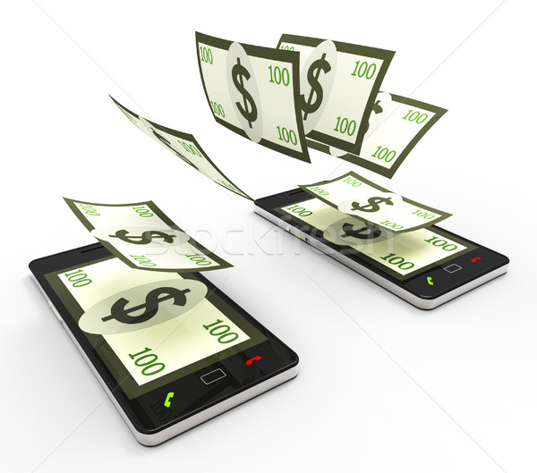 передача долларов онлайн всемирная паутина телефон смысл Сток-фото © stuartmiles
