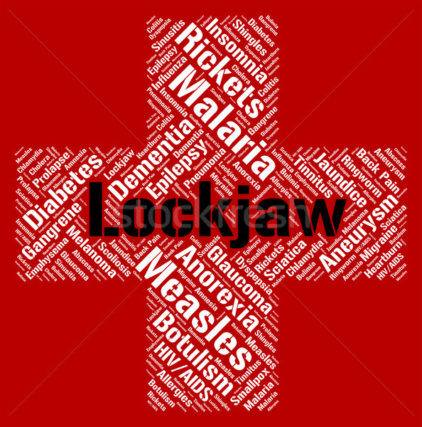 Lockjaw Word Shows Poor Health And Affliction Stock photo © stuartmiles