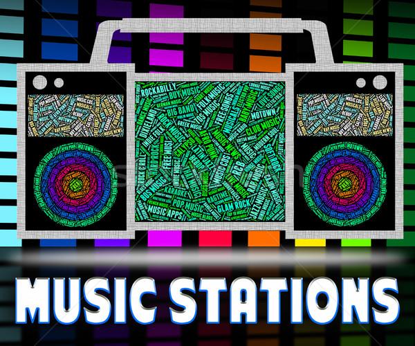 Radio sonores suivre diffuser audio diffusion Photo stock © stuartmiles