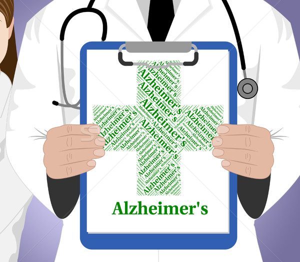 Alzheimer's Disease Shows Mental Deterioration And Affliction Stock photo © stuartmiles