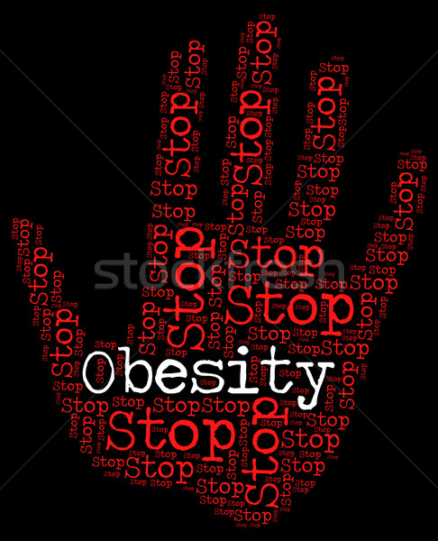 Stop Obesity Shows Chunky Portliness And Chubbiness Stock photo © stuartmiles