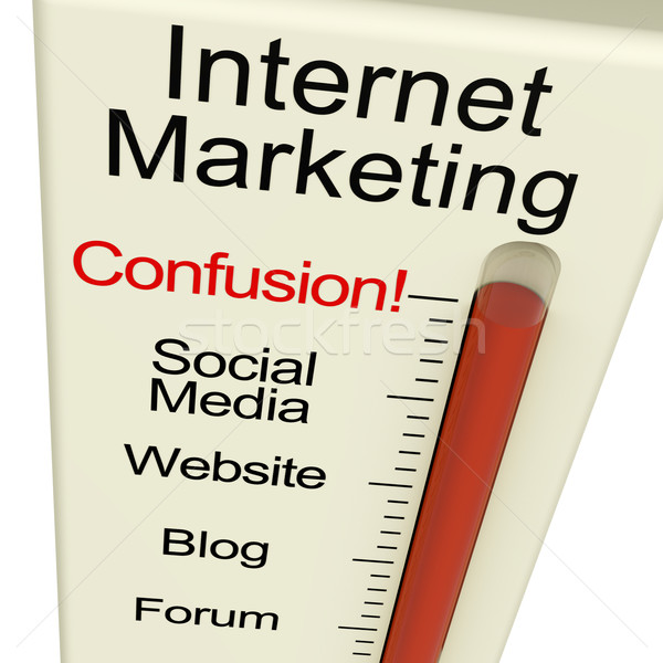 Internet Marketing Confusion Shows Online SEO Strategy And Devel Stock photo © stuartmiles