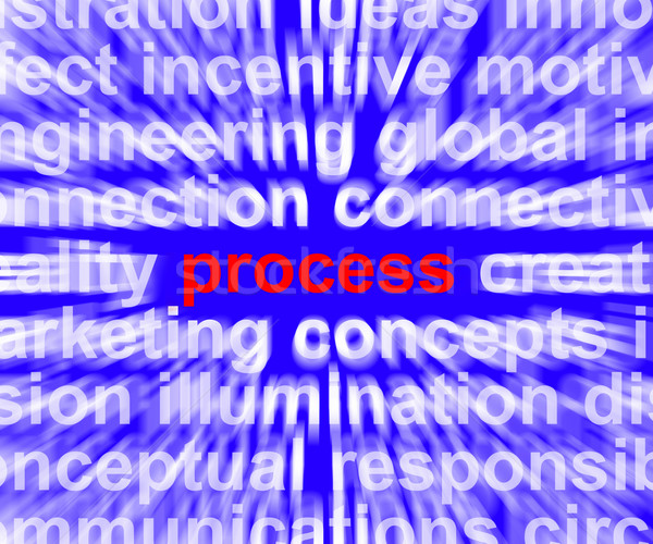 Process Word Representing Controlling A System Or Production Stock photo © stuartmiles