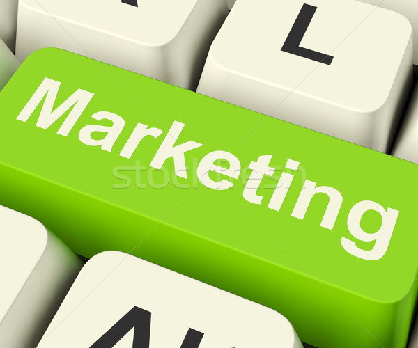 Stock photo: Online Marketing Key Can Be Blogs Websites Social Media And Emai
