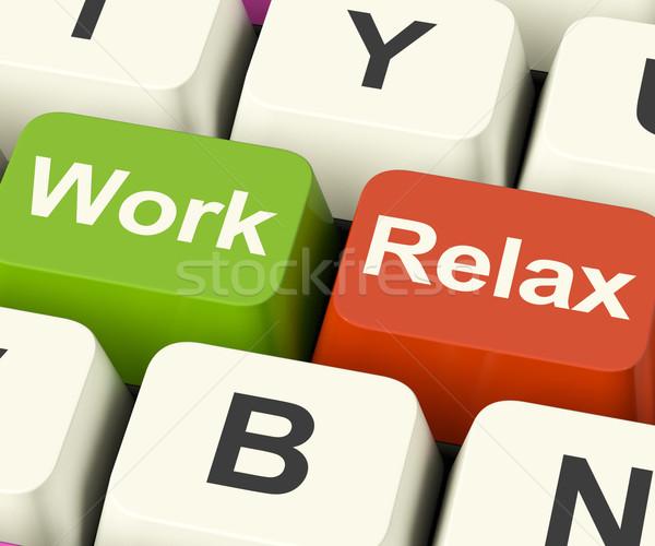 Foto d'archivio: Lavoro · relax · tasti · decisione