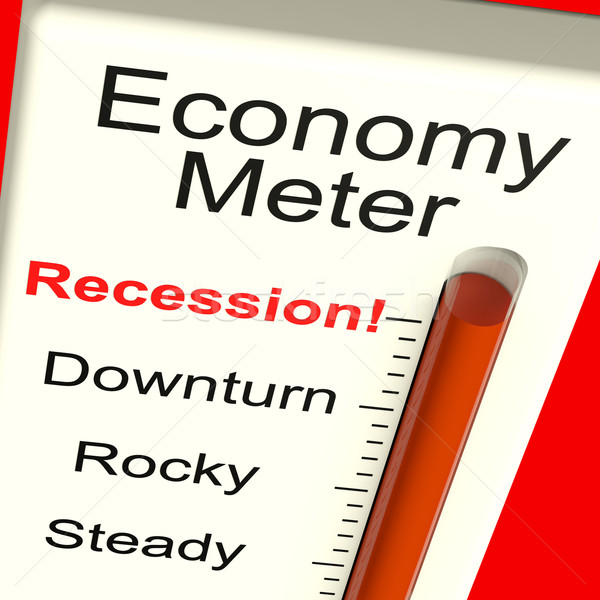 Economy Meter Showing Recession and Downturn Stock photo © stuartmiles