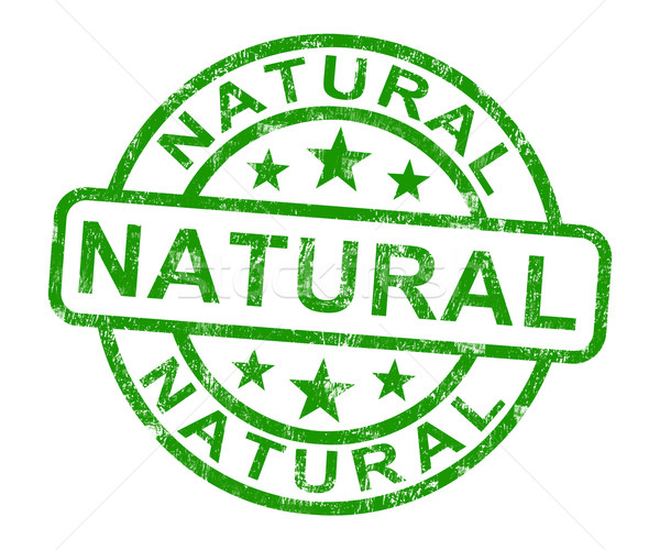 Natural Stamp Shows Pure Genuine Product Stock photo © stuartmiles