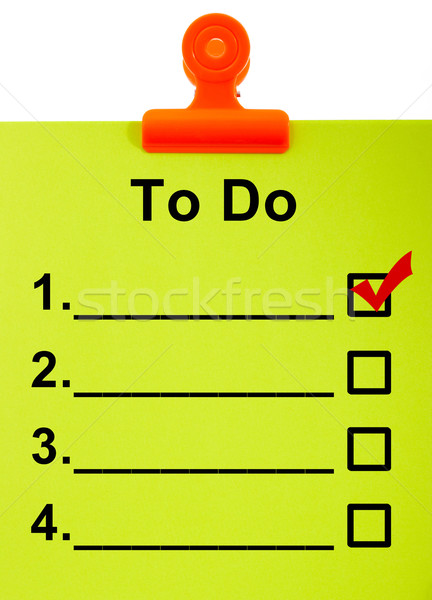 To do list organiseren taken Stockfoto © stuartmiles