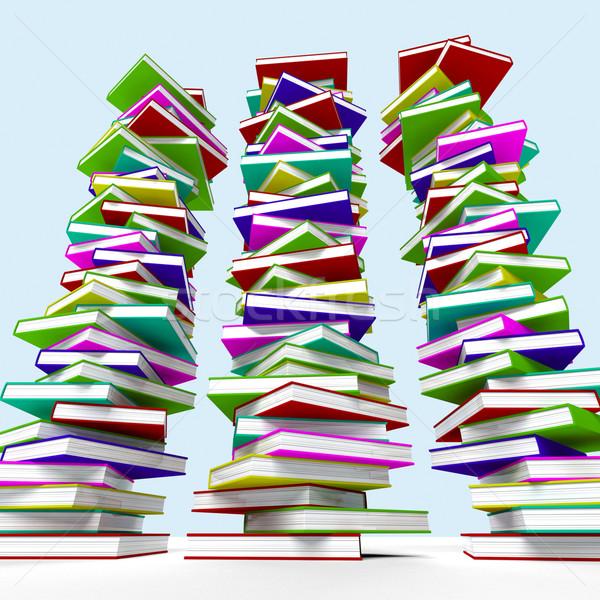 üç kitaplar öğrenme eğitim çalışma Stok fotoğraf © stuartmiles
