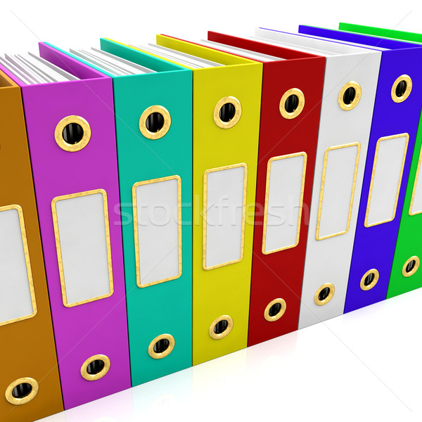 Row Of Colorful Files For Getting Organized Stock photo © stuartmiles