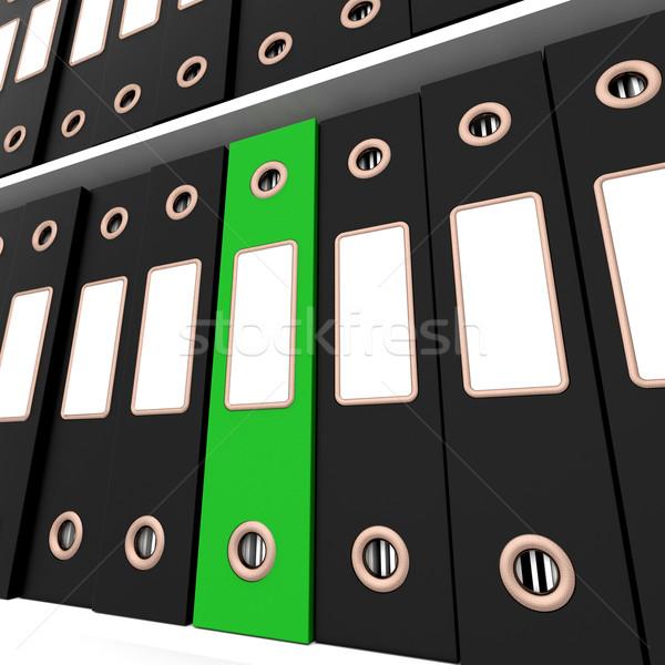 Verde file nero ufficio organizzato Foto d'archivio © stuartmiles