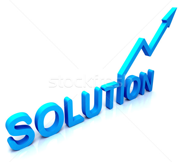 Blue Solution Word Shows Success And Strategy Stock photo © stuartmiles
