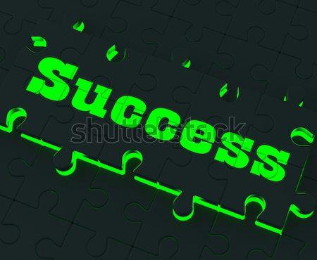 Ondersteuning puzzel informatie helpen Stockfoto © stuartmiles