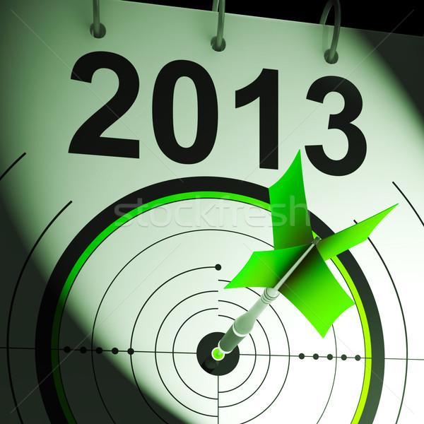 2013 hedef gelecek gol projeksiyon Stok fotoğraf © stuartmiles