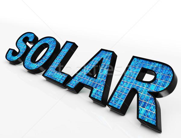 太陽 言葉 エコ エネルギー 日光 ストックフォト © stuartmiles