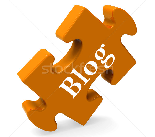 Blog puzzle blogging Photo stock © stuartmiles