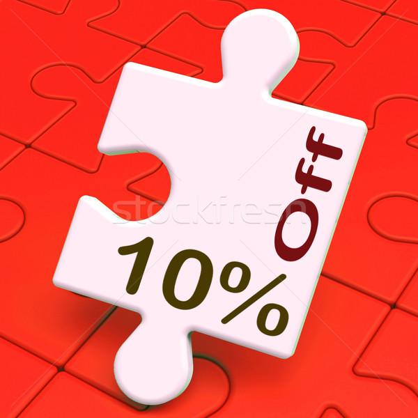 Ten Percent Off Puzzle Means Reductions Or Sale Stock photo © stuartmiles