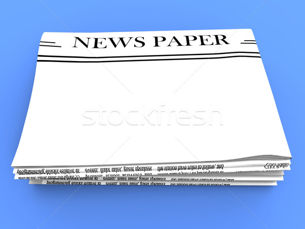 Blank Newspaper With Copy Space Shows News Media Headline Stock photo © stuartmiles