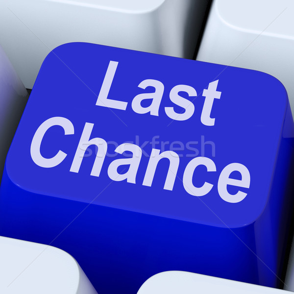 Last Chance Key Shows Final Opportunity Online Stock photo © stuartmiles