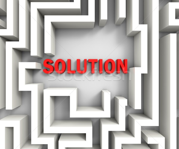 Solution In Maze Shows Puzzle Solved Stock photo © stuartmiles