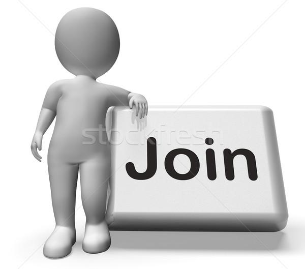 Botón carácter afiliación reclutamiento Foto stock © stuartmiles