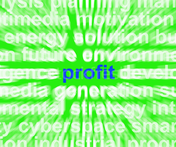 Profit Word Means Revenue Earnings And Return Stock photo © stuartmiles
