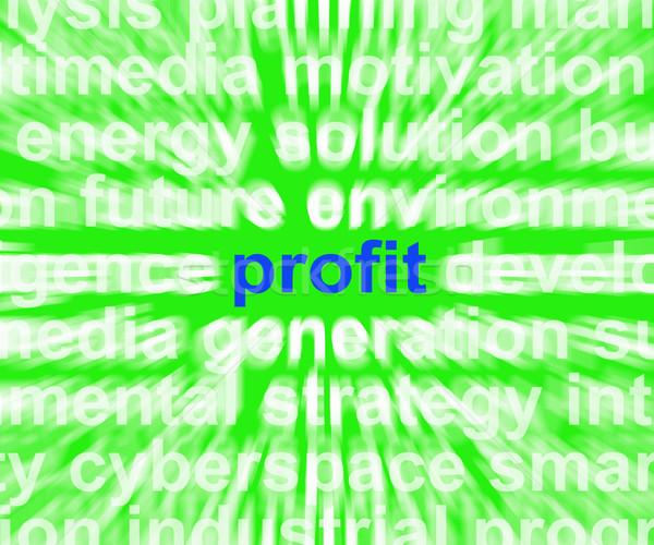 Beneficio palabra ingresos ganancias volver significado Foto stock © stuartmiles