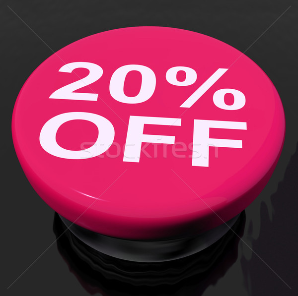 Twenty Percent Button Shows Sale Discount Or 20 Off Stock photo © stuartmiles