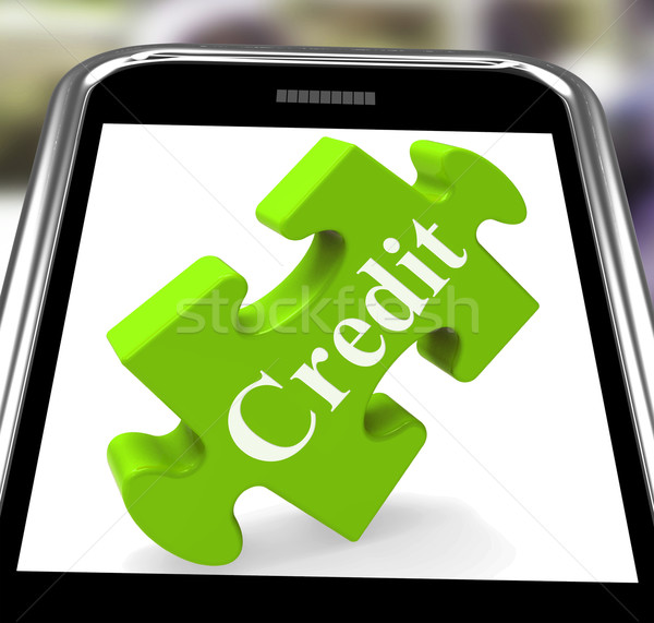 Kredit okostelefon kölcsönvesz pénz pénz mutat Stock fotó © stuartmiles