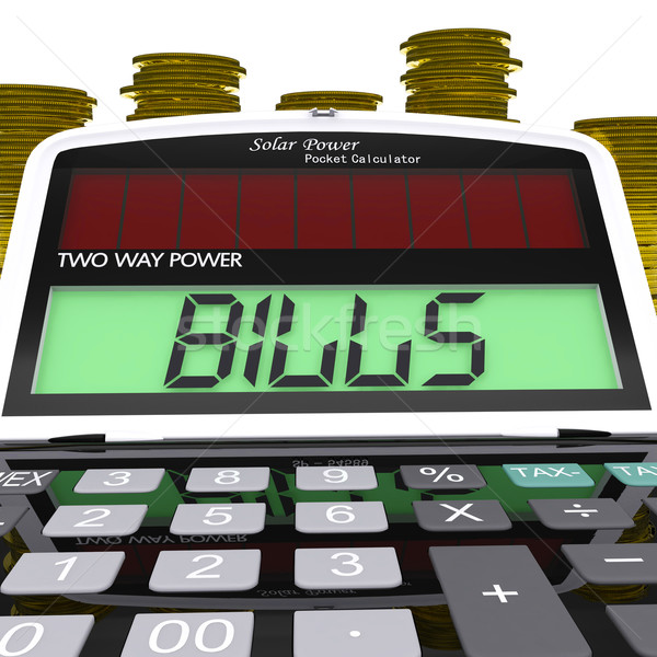 Bills Calculator Shows Accounts Payable And Due Stock photo © stuartmiles