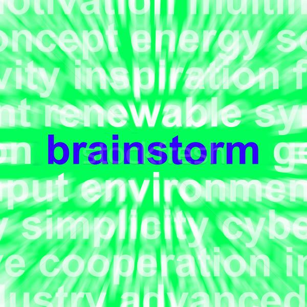 ötletelés szó gondolkodik problémamegoldás személyi igazolvány jelentés Stock fotó © stuartmiles
