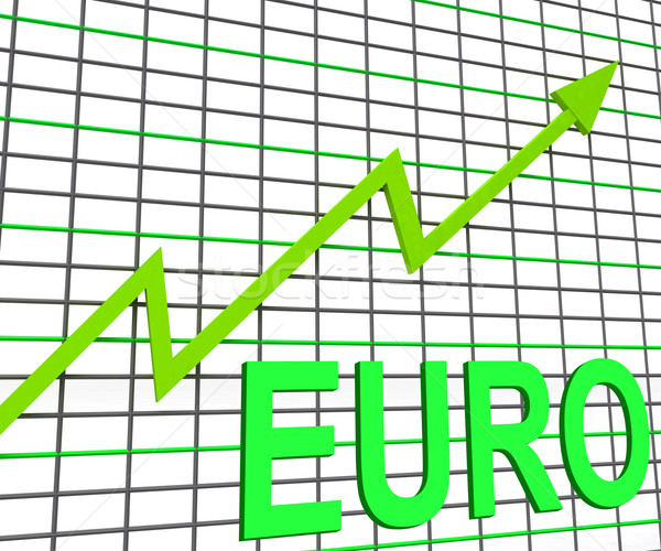 Euro Chart Graph Shows Increasing European Economy Stock photo © stuartmiles