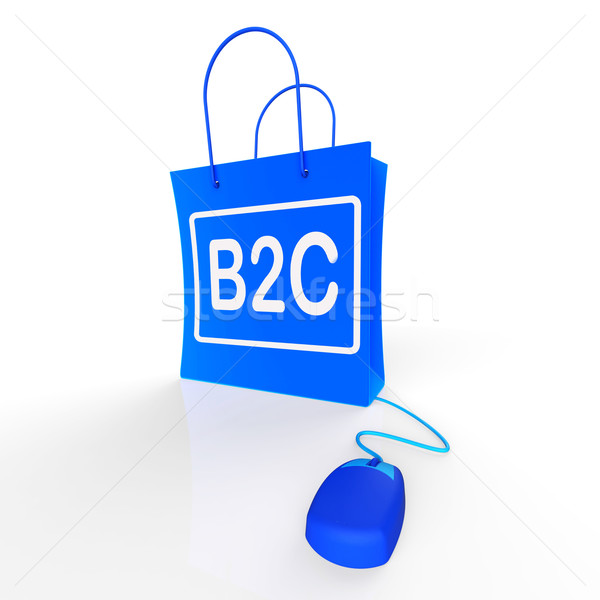 B2C Bag Shows Business to Customer Online Buying Stock photo © stuartmiles