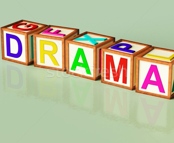 Drama Blocks Show Roleplay Theatre Or Production Stock photo © stuartmiles