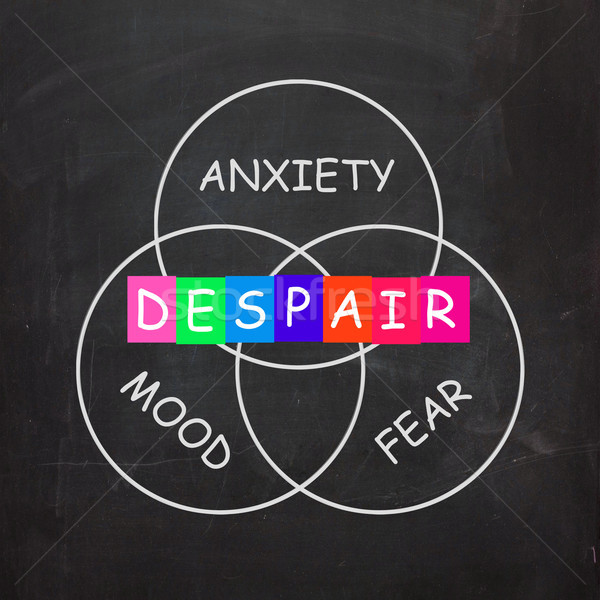 Despair Indicates a Mood of Fear and Anxiety Stock photo © stuartmiles