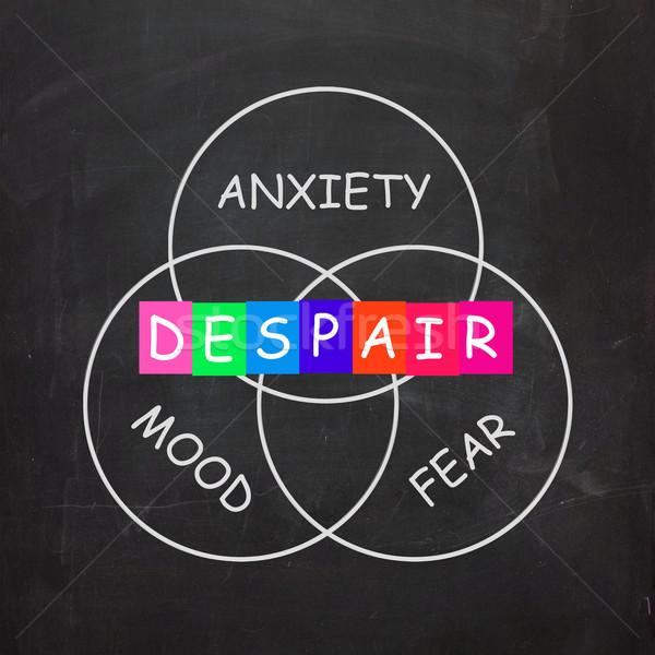 Desespero humor medo ansiedade tristeza deprimido Foto stock © stuartmiles