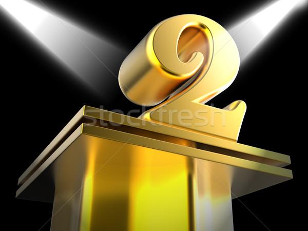 Dorado dos reconocimiento éxito significado victoria Foto stock © stuartmiles