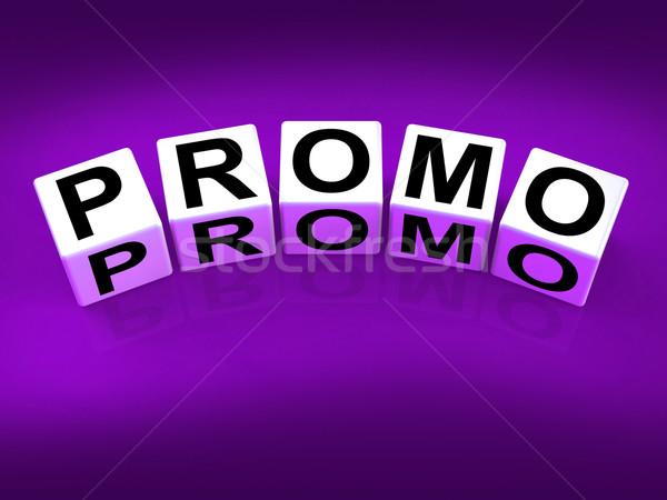 Promo kockák előadás hirdetés műsorszórás mutat Stock fotó © stuartmiles