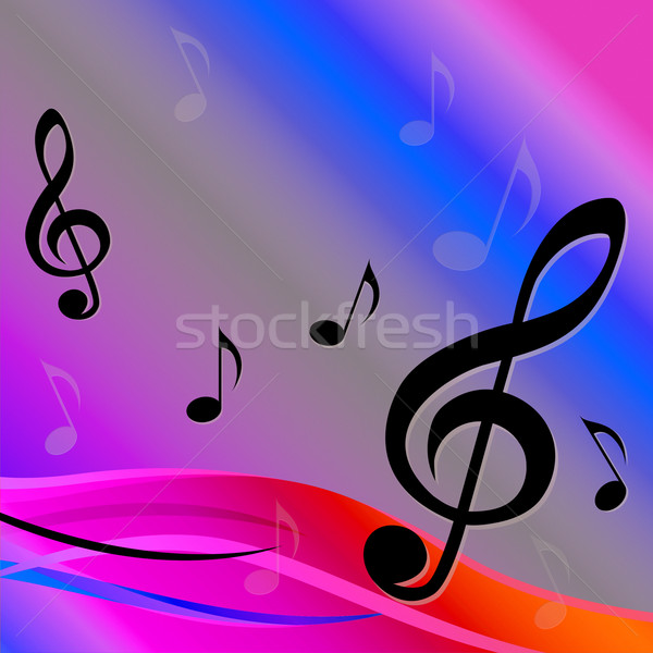 Treble Clef Background Means Melody Composition Or Musical Backg Stock photo © stuartmiles
