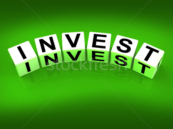 Invest Blocks Refer to Investing Loaning or Endowing Stock photo © stuartmiles