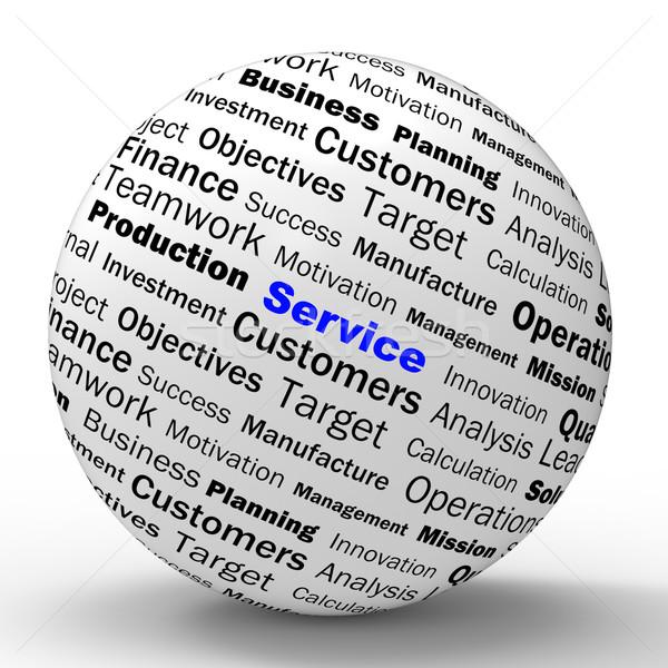 Szolgáltatás gömb meghatározás támogatás ügyfélszolgálat mutat Stock fotó © stuartmiles