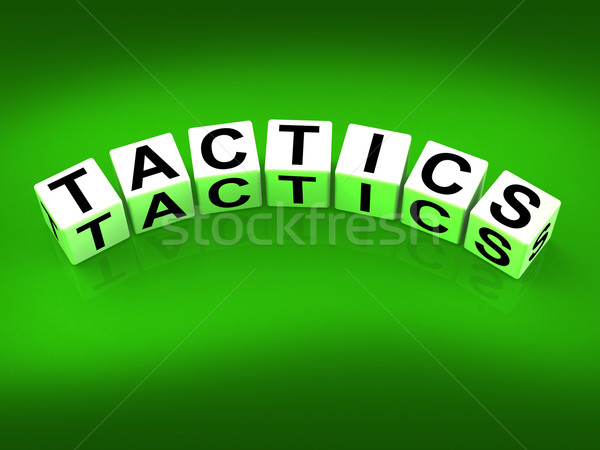 Tactics Blocks Show Strategy Approach and Technique Stock photo © stuartmiles
